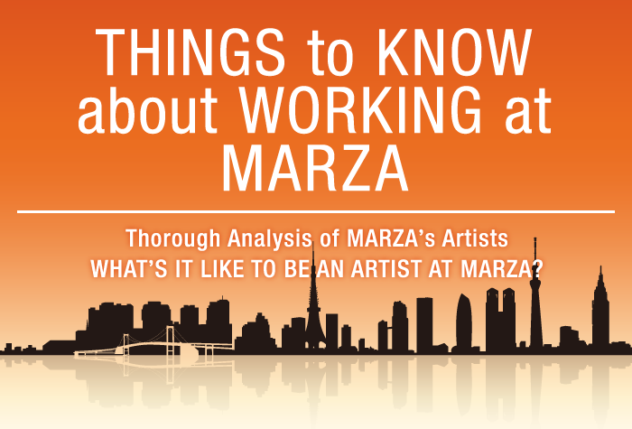 INFOGRAPHICS about ARTISTS in MARZA